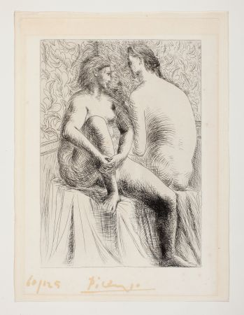 Aguafuerte Picasso - Deux Femmes Nues
