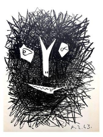 Litografía Picasso - Deux Masques