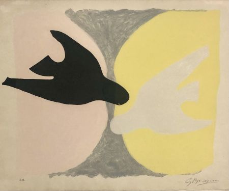Aguafuerte Y Aguatinta Braque - Deux Oiseaux
