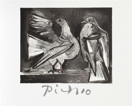 Litografía Picasso - Deux Pigeons
