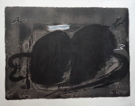 Litografía Tàpies - Deux Utrous