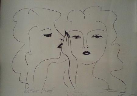 Litografía Ting - Deux Visages