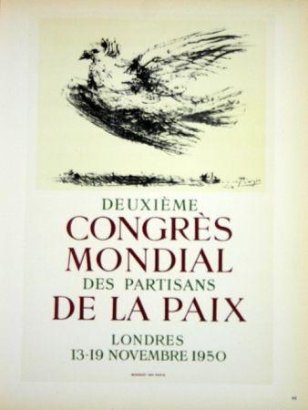 Litografía Picasso - Deuxieme Congrés de la Paix 1950