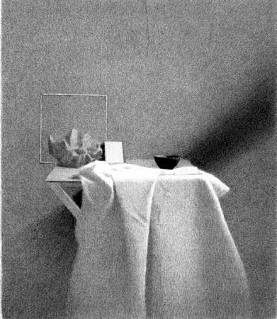 Litografía Ferroni - Diagonale d'ombra I