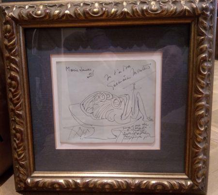 Sin Técnico Dominguez - Dibujo con dedicatoria a Marie Laure de Noailles