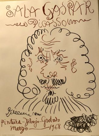 Cartel Picasso -  Dibujos De Picasso - Sala Gaspar Avril 1961