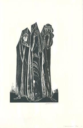 Grabado En Madera Hansen-Bahia - Die drei Marien / The Three Marys