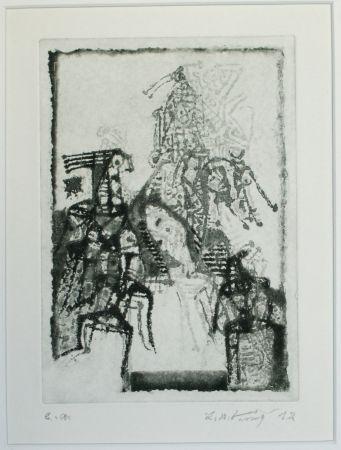 Aguatinta Kouliev - Die Erinnerung