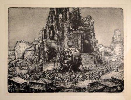 Litografía Weber - Die Prozession