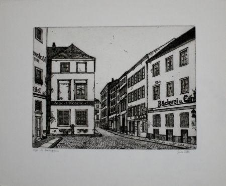 Grabado Vetter - Die Sperlingsgasse