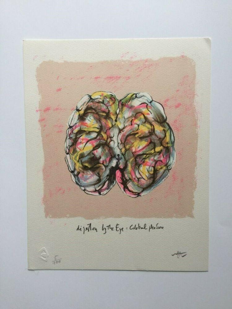 Litografía Matta - Digestion by the eye (from Morfolgie Verbali)