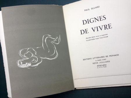 Libro Ilustrado Fautrier - DIGNES DE VIVRE. Lithographies de Fautrier. 1944