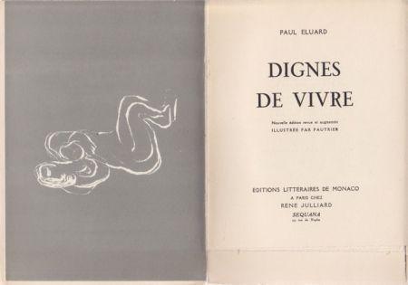 Libro Ilustrado Fautrier - Dignes de vivre / Paul Eluard