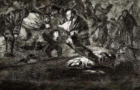 Aguafuerte Y Aguatinta Goya - Disparate fùnebre