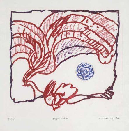 Grabado Alechinsky - Disque bleu