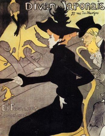 Litografía Toulouse-Lautrec - Divan japonais