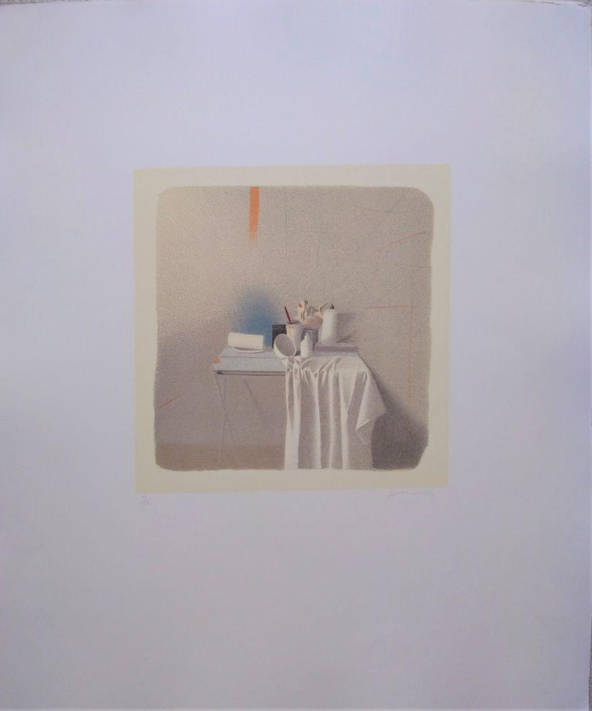 Litografía Ferroni - Diversi oggetti e panneggio