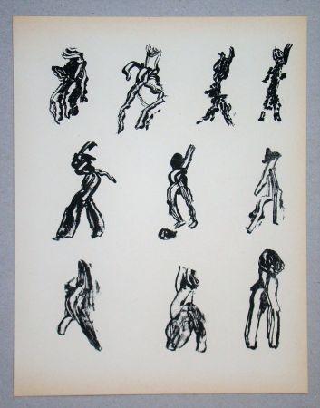 Litografía Michaux - Dix Figures