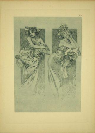 Litografía Mucha - Document Décoratif  Planche N°12