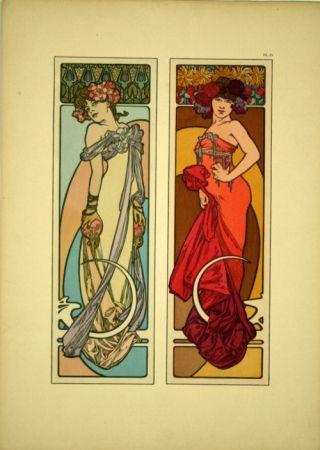 Litografía Mucha - Document décoratif  Planche n° 45
