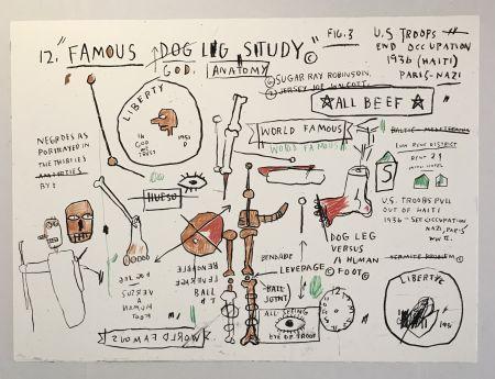 Serigrafía Basquiat - Dog Leg Study
