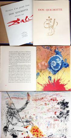 Libro Ilustrado Dali - DON QUICHOTTE DE LA MANCHE (Cervantès). Ex. avec suite supplémentaire (J. Foret 1957).