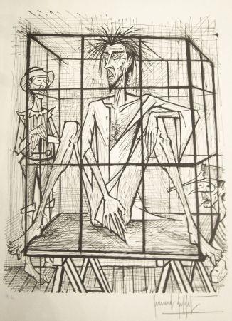 Litografía Buffet - Don Quichotte en cage