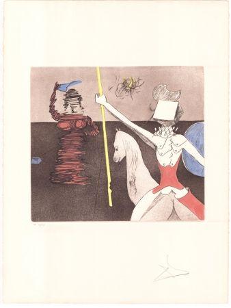 Grabado Dali - Don Quijote - après la bataille