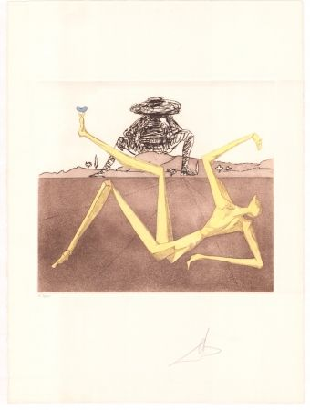 Grabado Dali - Don Quijote - the heart of madness