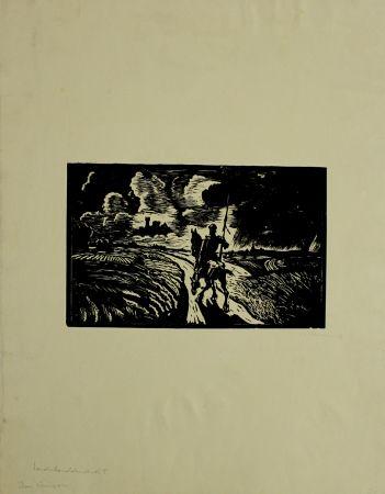 Grabado En Madera Klemm - Don Quixote