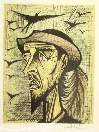 Litografía Buffet - Don Quixote with Hat
