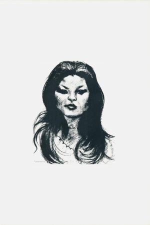 Litografía Messina - Donna