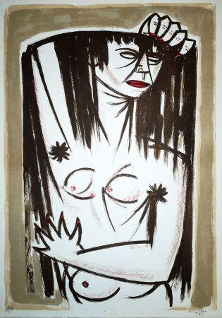 Litografía Migneco - Donna
