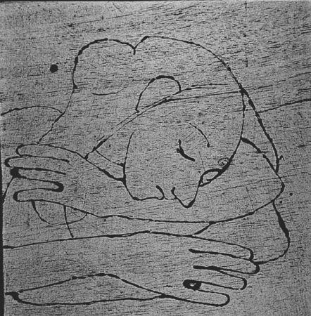 Grabado En Madera Casorati - Donna che si riposa