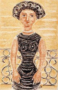 Litografía Campigli - Donne al balcone