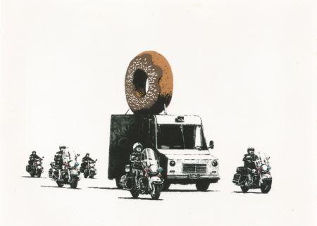 Serigrafía Banksy - Donut (brown)