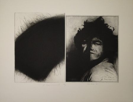 Grabado Roth - Doppelporträt oder Stirnspalt