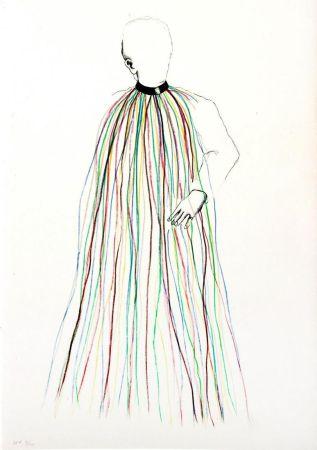 Litografía Dine - Dorian Gray in Multi-Colored Vinyl Stripe Cape