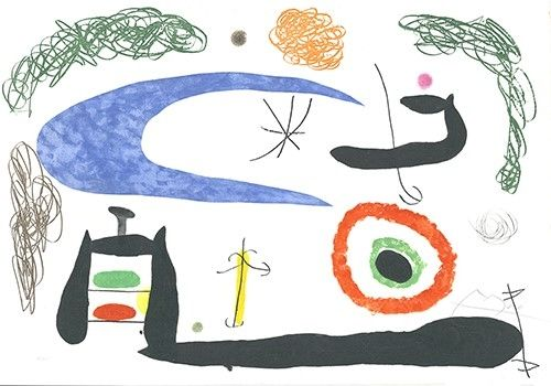 Aguafuerte Y Aguatinta Miró - Dormir sous la lune