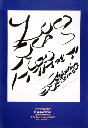 Cartel Alechinsky - Dotremont, logogrammes, 1971