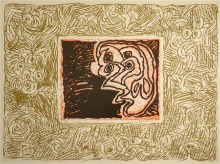 Linograbado Alechinsky - Double Vue