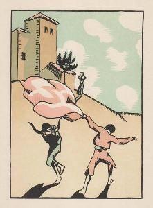 Grabado En Madera Hermann-Paul - Douze dessins pour amour de Goya, composés et gravés par Hermann-Paul