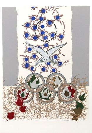 Serigrafía Riopelle - Dove of Peace