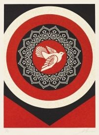 Relieve Fairey -  Dove Target Red