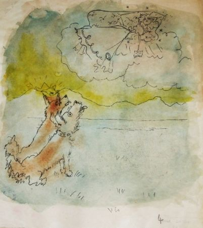 Litografía Cocteau - Drôle de ménage