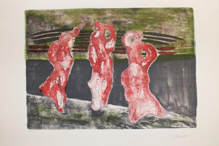 Litografía Herold - Drei Figuren