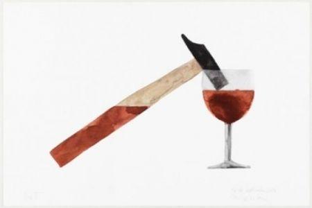Litografía Macchi - Drunk