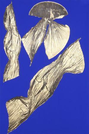 Litografía Benglis - Dual Nature (Blue) I