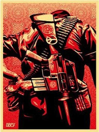 Serigrafía Fairey - Duality of Humanity 3