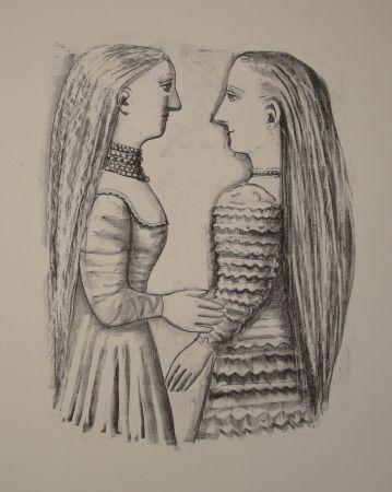 Litografía Campigli - Due Donne di Profilo